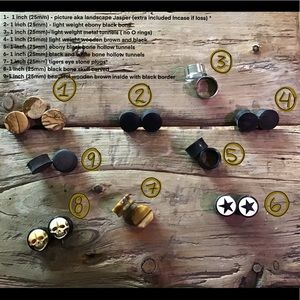 """Other - 3/4"""" (19mm) 1"""" (25mm) 1 1/4 (32mm) plugs earings"""